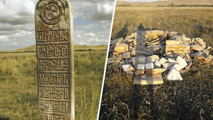 В Башкирии вандалы уничтожили могильный камень, простоявший почти 200 лет