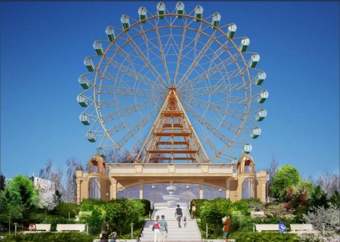 На набережной разместится 67-метровое колесо обозрения