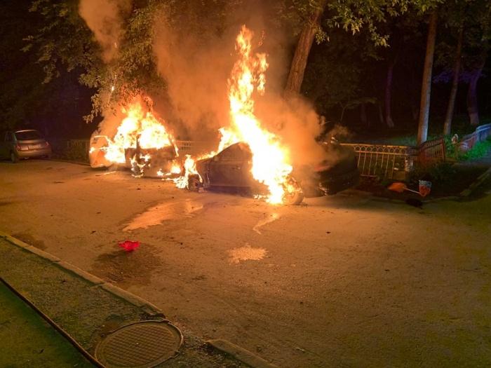 Автомобиль подожгли после очередного рейда по ларькам, в котором участвовал общественник