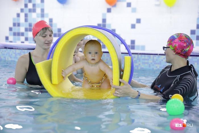 Участие в заплывах приняли малыши от 4 месяцев до 5 лет