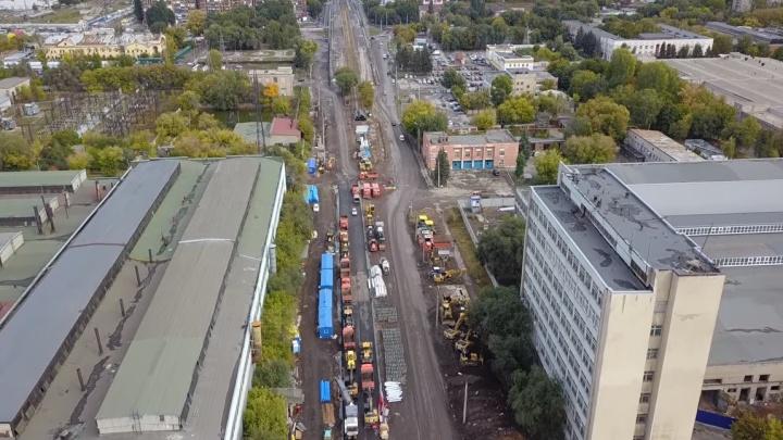 Заводское с высоты: как продвигаются работы на крупнейшей магистрали города?