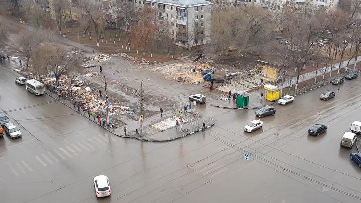 Стали известны некоторые подробности обустройства сквера на месте снесенного рынка на Авроре