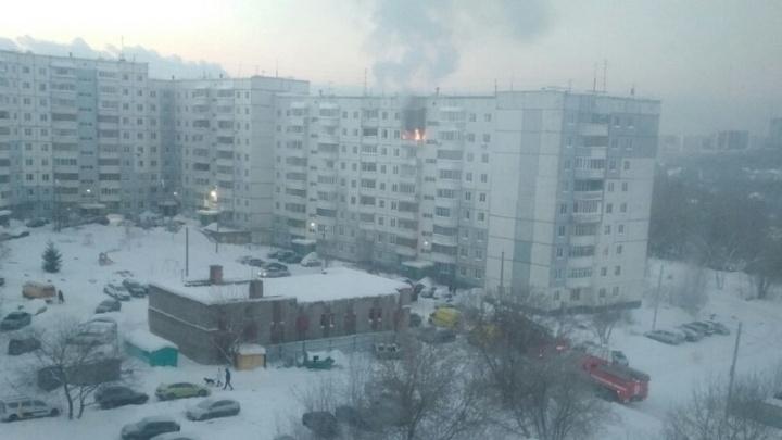 В Перми из-за пожара эвакуировали жителей девятиэтажного дома