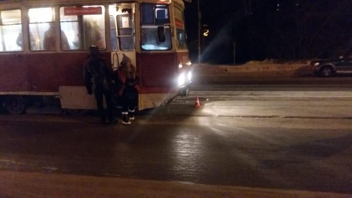 В автоинспекции рассказали подробности наезда трамвая № 14 на пешехода