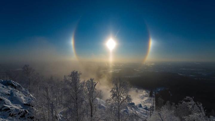 Морозная красота: самые эффектные кадры гало в Екатеринбурге