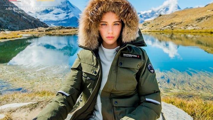 19-летняя омичка снялась в Альпах для рекламы пуховиков