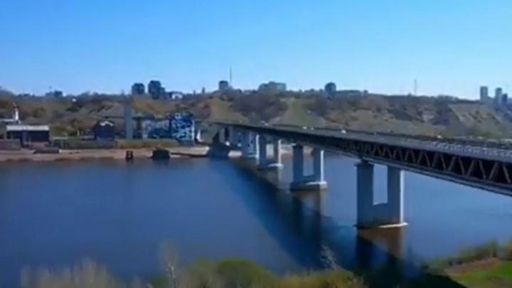 Видео дня. Любуемся нижегородским метромостом со всех сторон