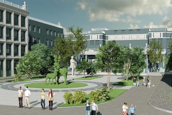 Так выглядит вариант фасада нового здания гимназии № 3, предложенный архитекторами