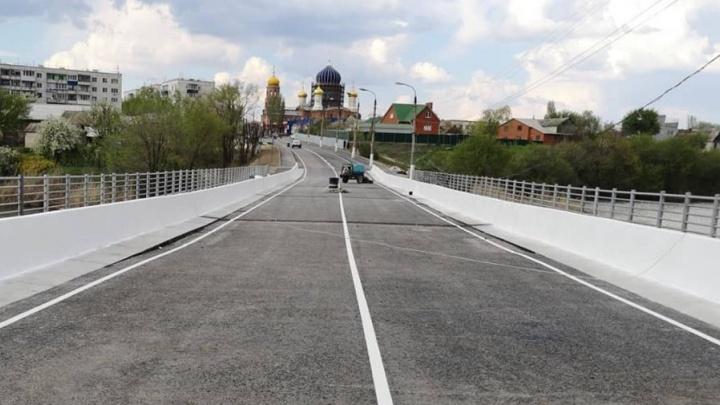 «Первой пустили маршрутку»: в Городище после ремонта открыли мост через Мечетку