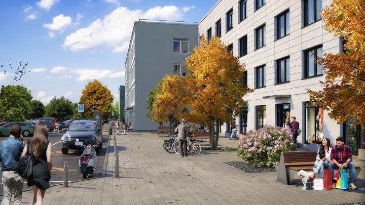 В Тюмени начали строить новый квартал в районе Скандинавская Тура