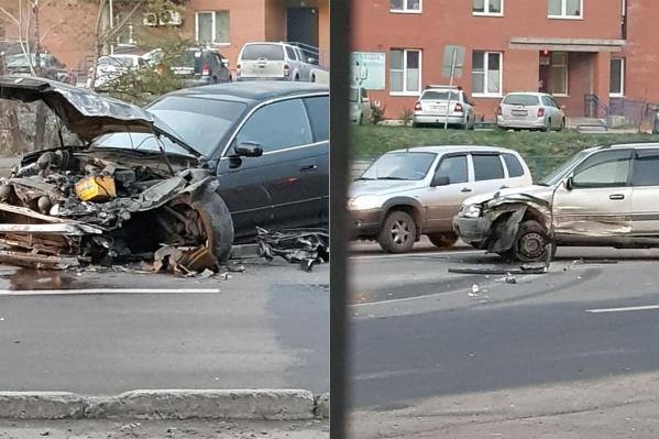 Больше всех повреждён автомобиль виновника аварии