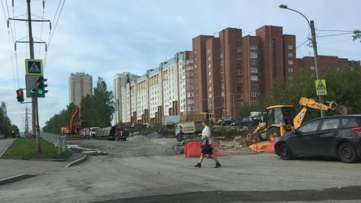 В Екатеринбурге перенесли сроки открытия улицы Патриса Лумумбы