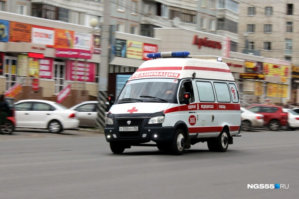 Ребёнка отвезли в больницу