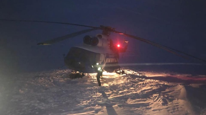 Названа причина аварийной посадки вертолета на севере Красноярского края