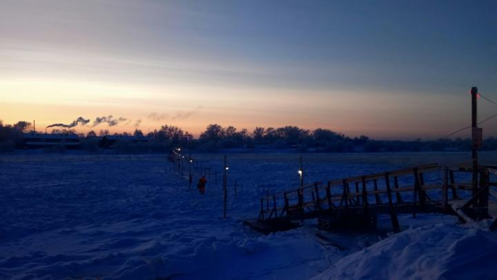 В Архангельске открыли переправу между посёлками 14-го лесозавода и Маймаксанского порта