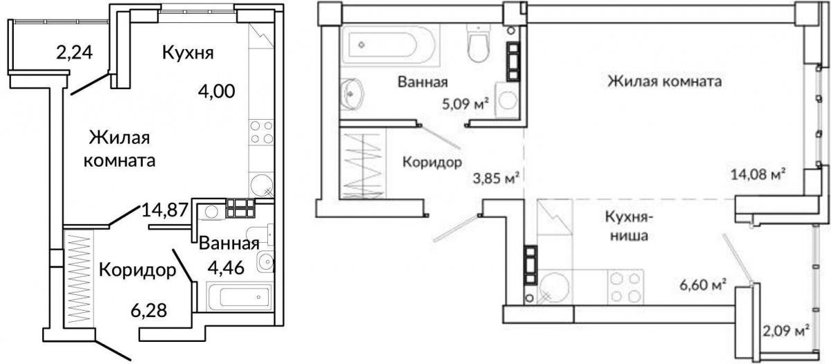 Планировки квартир-студий в готовом «изумрудном» доме «Новой Ботаники». Переехать сюда можно уже сейчас
