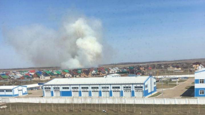 «Махом выгорела»: в Башкирии очевидцы сняли на видео природный пожар