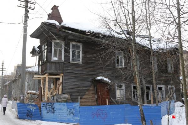 """Дом <nobr class=""""_"""">№109</nobr> на проспекте Советских Космонавтов известен как домФ. А. Брагина, построенный в начале XX века"""