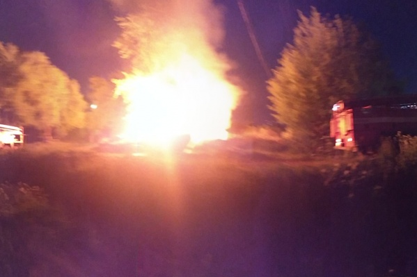 Пожар разбудил жильцов