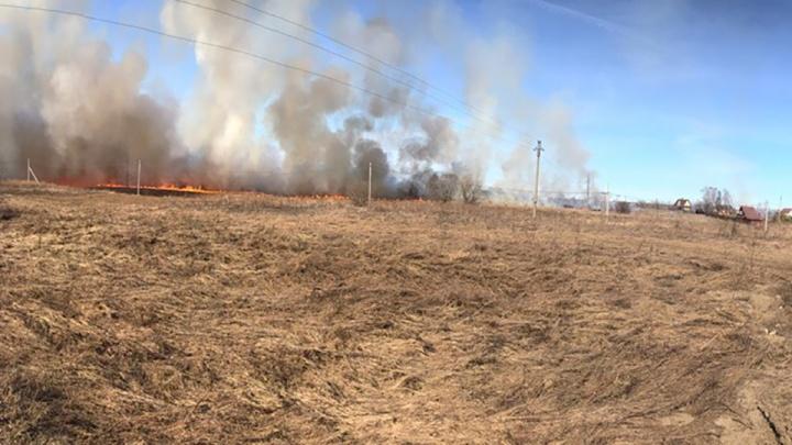 Полыхали дома и поле: крупный пожар в Ярославской области уничтожил два дома