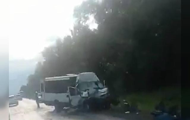 Есть погибшие: на трассе М-5 под Ашой микроавтобус врезался в грузовик