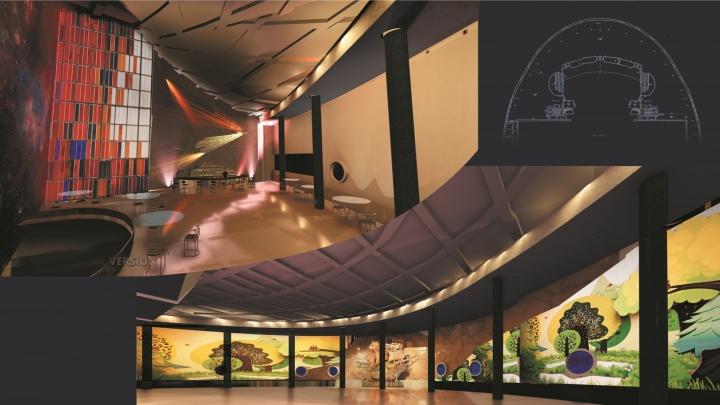Студентка придумала для новосибирского театра интерьер с проекторами