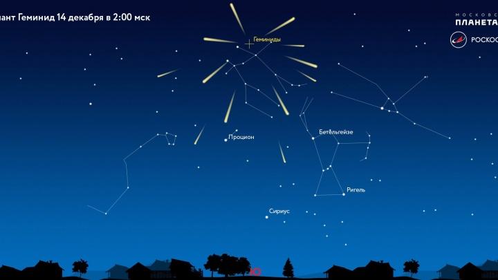 Над Землёй пролетят до ста вспыхивающих метеоров в час
