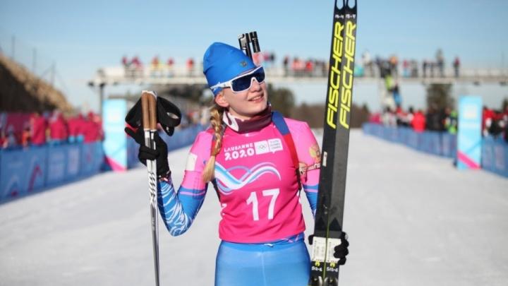Красноярская биатлонистка завоевала первое российское золото на юношеских Олимпийских играх