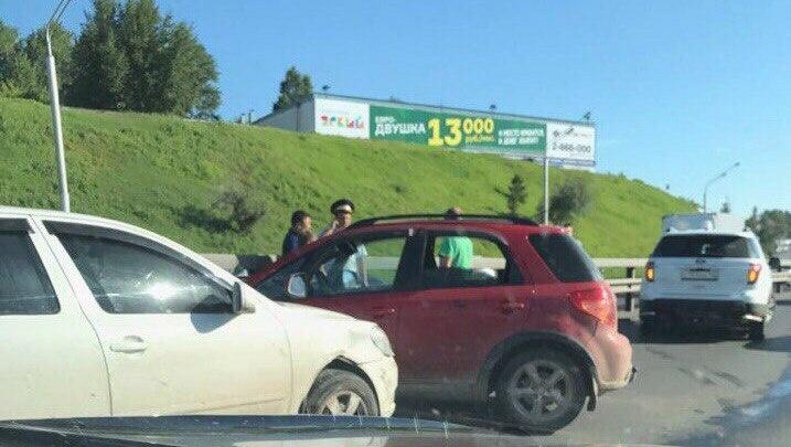В Уфе на проспекте Салавата Юлаева произошла массовая авария