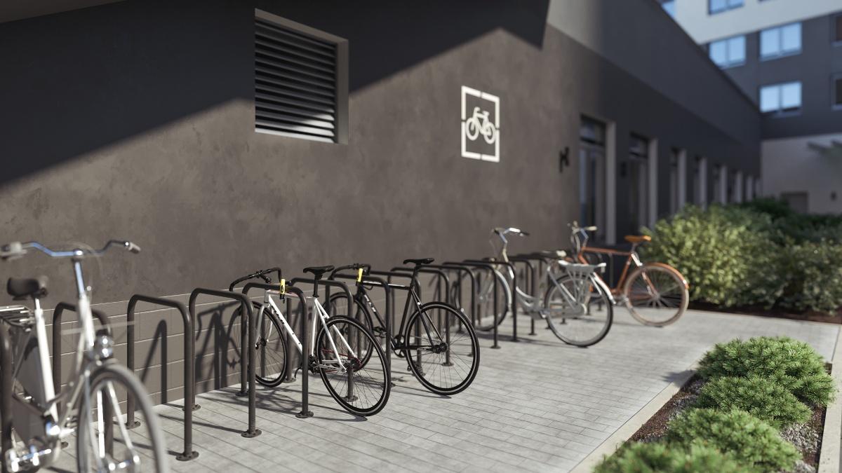 В доме есть и своя велопарковка