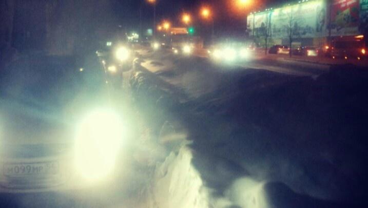 Новосибирцы встали в пробку на Богдана Хмельницкого из-за массовой аварии