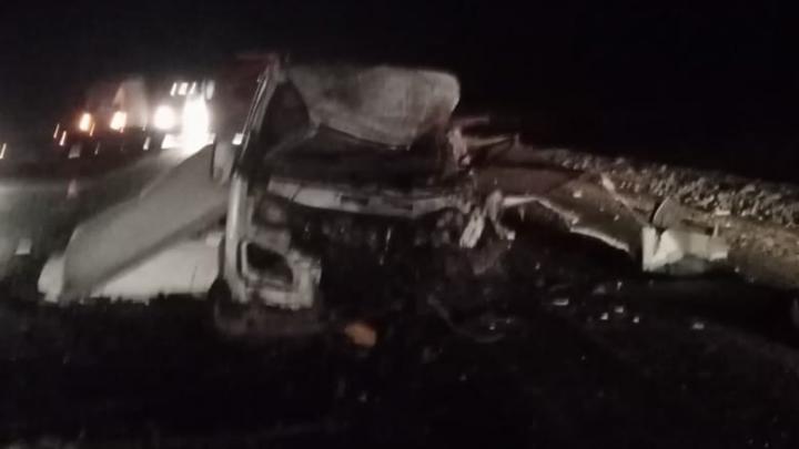 Водитель «Газели» погиб при столкновении с грузовиком