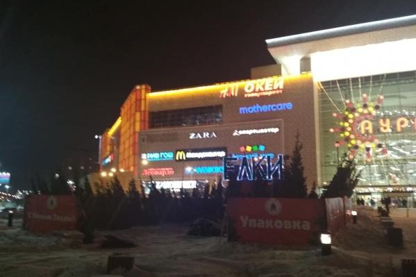 Один из первых ёлочных базаров открылся возле ТРЦ «Аура»