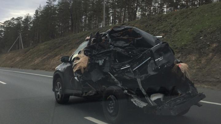 «Ехал под 100»: самарские водители заметили на трассе склеенную скотчем «Тойоту»