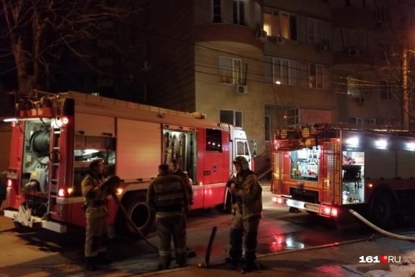 Пожарные приехали на вызов быстро