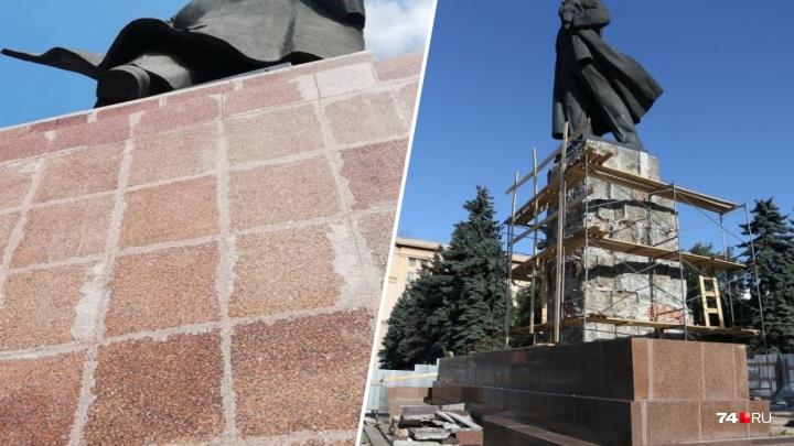 Бардак при ремонте памятника Ленину в Челябинске вылился в уголовное дело о халатности