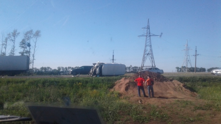 На трассе в Башкирии «Газель» протаранила легковушку: пострадал ребенок
