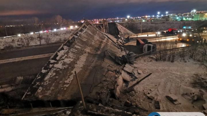 В Оренбурге обрушился мост, который ведет на выезд в сторону Уфы