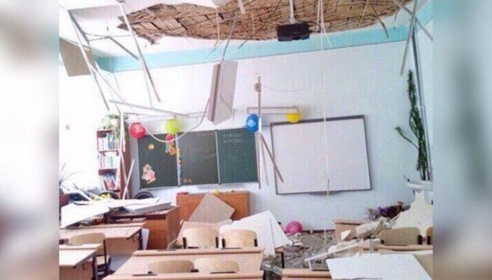 Школу №46, где рухнул потолок, начнут ремонтировать только в сентябре