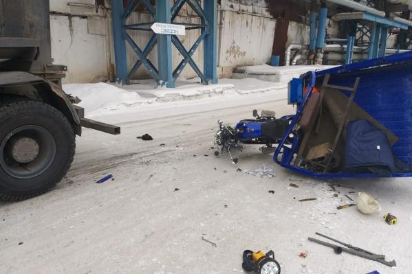 Водитель мотоцикла погиб на месте