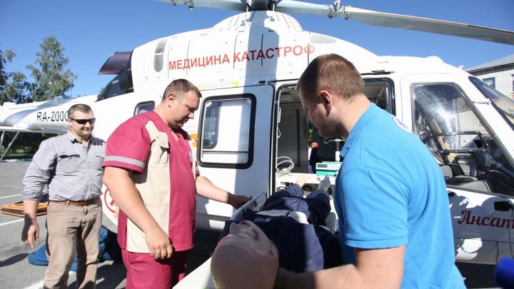 «Это как такси»: пострадавших в ДТП и пациентов с инсультом будут доставлять в Челябинск вертолётом