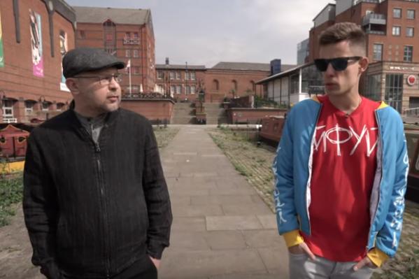 Съемки интервью проходилина берегу Манчестерского канала