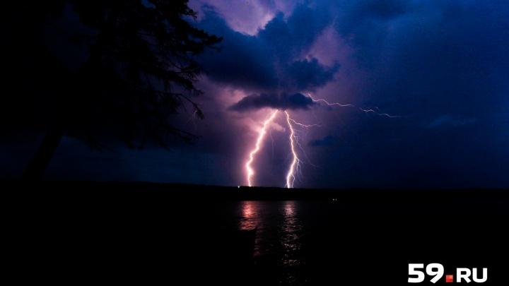 МЧС объявило штормовое предупреждение: в Прикамье пройдут грозы с крупным градом