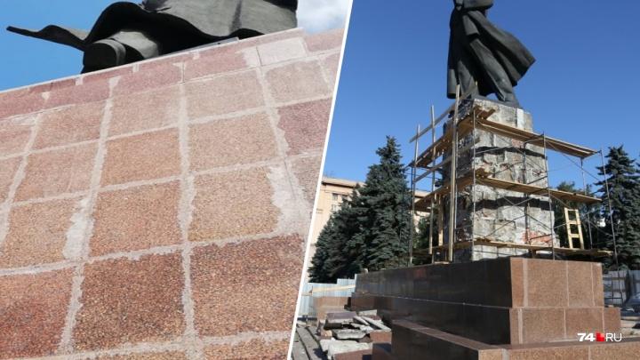 Власти ответили на недовольство челябинцев «колхозным» ремонтом памятника Ленину