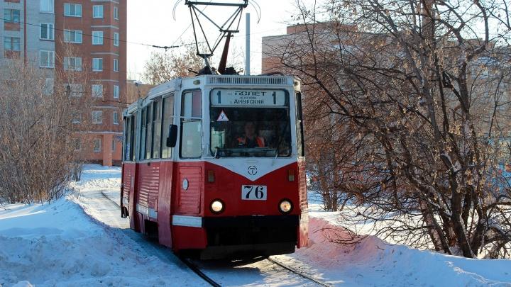 В Омске на всю зиму отменили трамвайный маршрут
