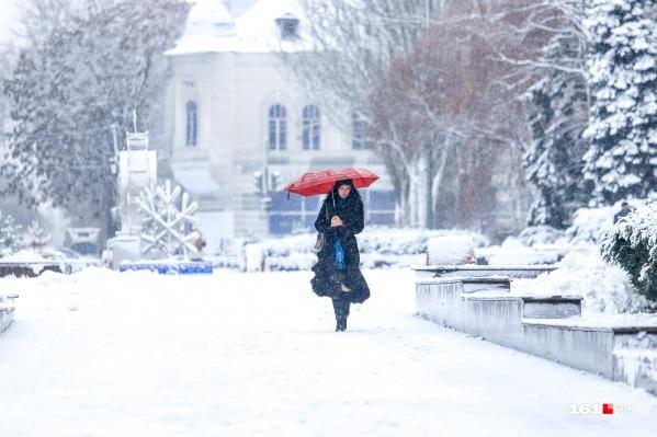 В предновогодние дни на Дону будет снег и небольшой мороз