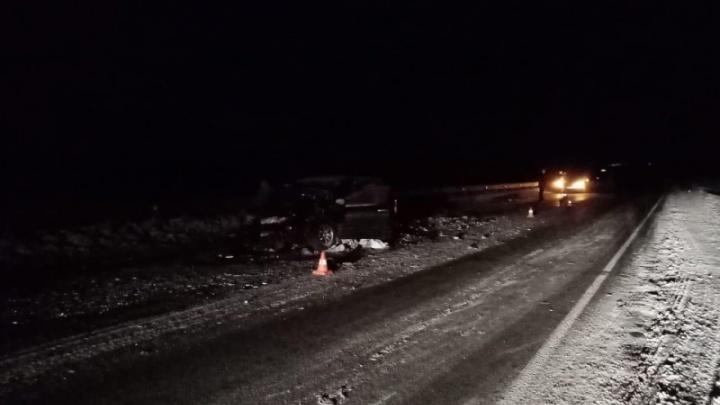 «Тойота» врезалась в грузовик на вечерней трассе. Погибли двое