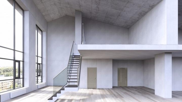 В центре Екатеринбурга появятся квартиры, где вместо стен окна, а потолки — 8 метров