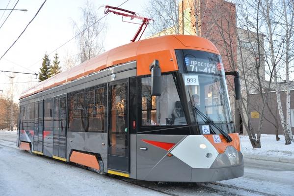 Новый вагон уже обкатали по Екатеринбургу