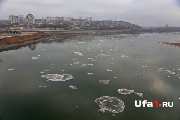 Плавучие льдины появились лишь 22 ноября